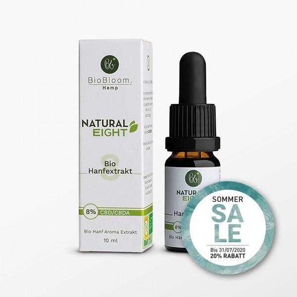Natural Eight, Hanf Öl, CBD 8% - 10 ml - Nahrungsergänzungsmittel