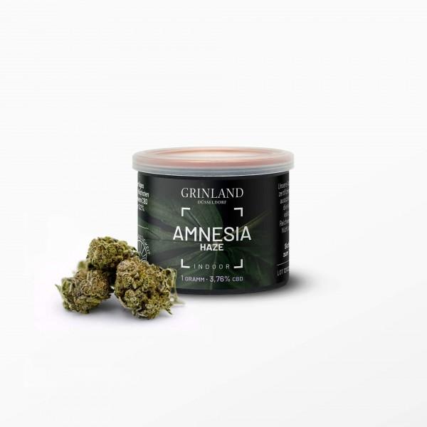 """AMNESIA HAZE"" Indoor - Aromablüten - 3,76% CBD (THC < 0,2%)"