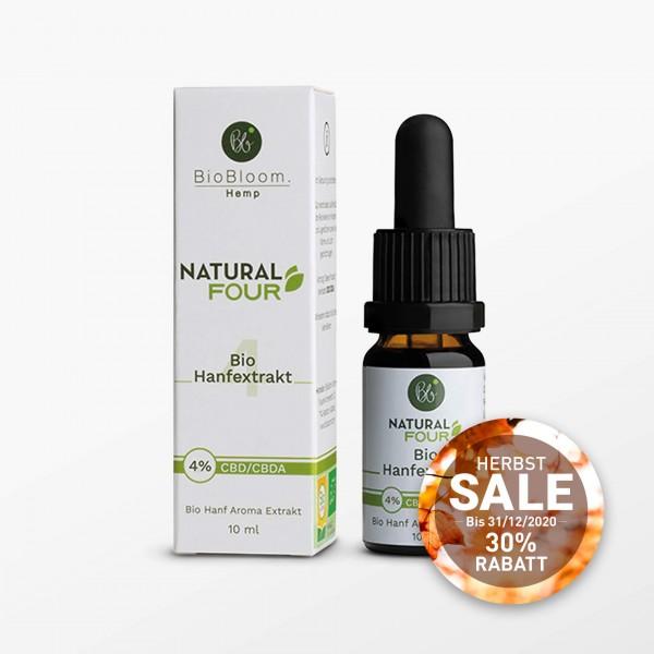 Natural Four, Hanf Öl, CBD 4% - 10 ml - Kosmetisches Produkt