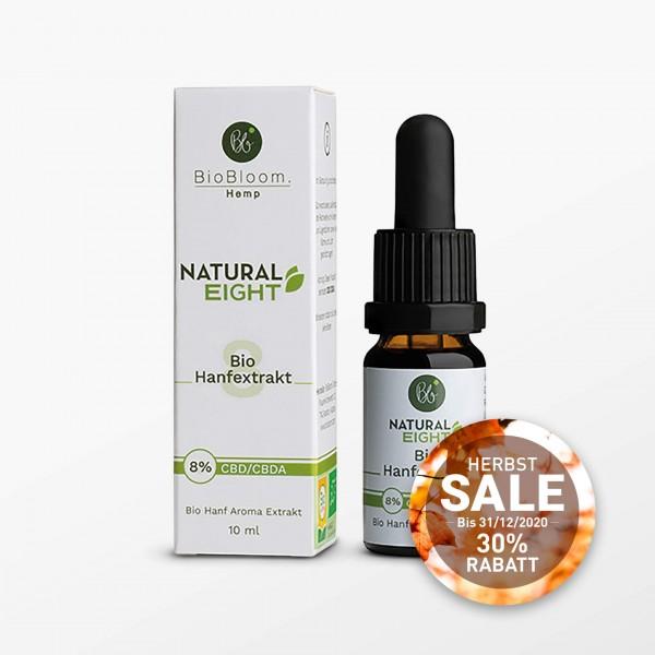 Natural Eight, Hanf Öl, CBD 8% - 10 ml - Kosmetisches Produkt