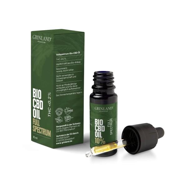 Vollspektrum-Bio-CBD-Öl - CBD / 1.000 mg / 10% (THC <0,2%) - 10 ml