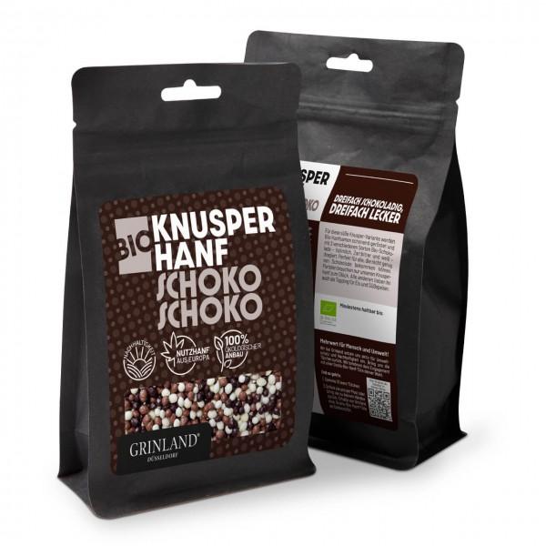 Bio-Knusperhanf Schoko Schoko – Dreifach schokoladig, dreifach lecker