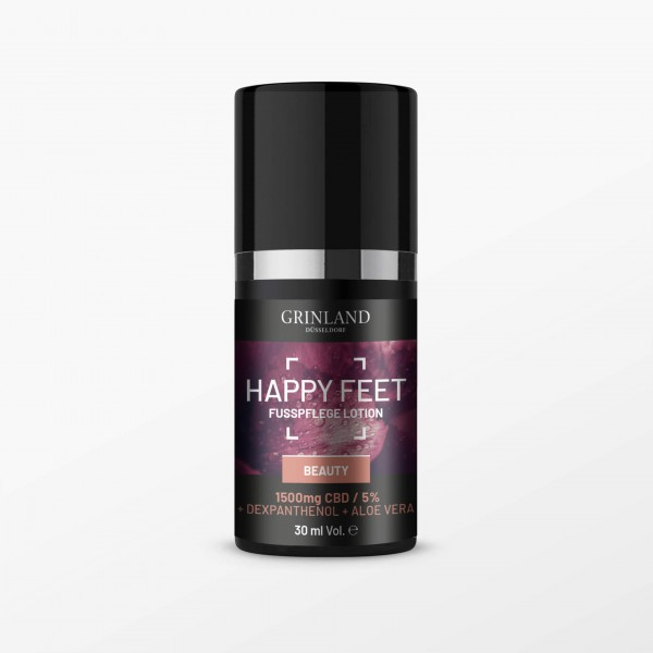 HAPPY FEET - Fußpflege Lotion / 1500mg CBD / 5% - 30 ml